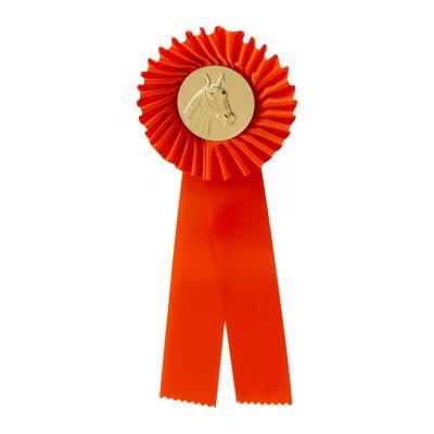 1-rings rozet - oranje - G101.2 - Paardenhoofd